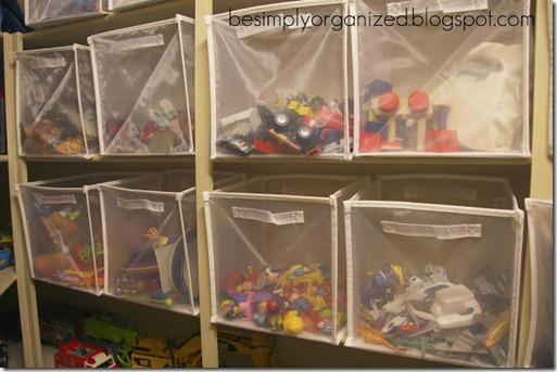 Simply Organized toy bins