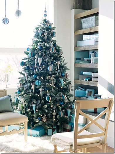 bhg blue living room