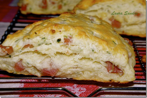 little chef and I ham and herb scones