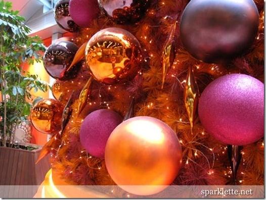 sparklette orange christmas tree