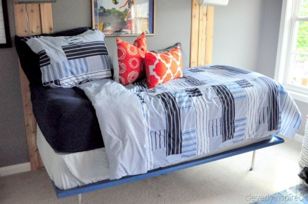 teen boys bed colorful redo, cleverly inspired @remodelaholic