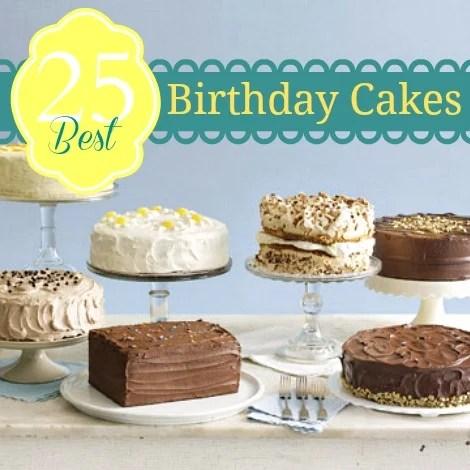 25 Birthday Cakes pin pic