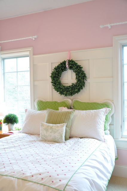 Evolution of style pink wall above trim