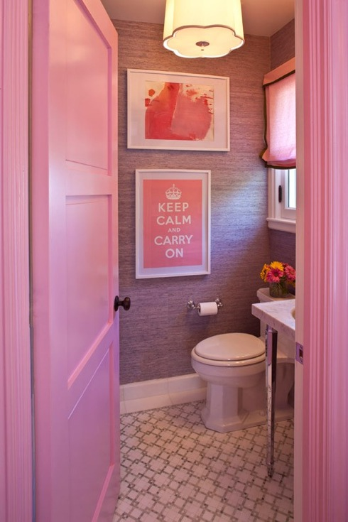 Grant K Gibson pink bathroom