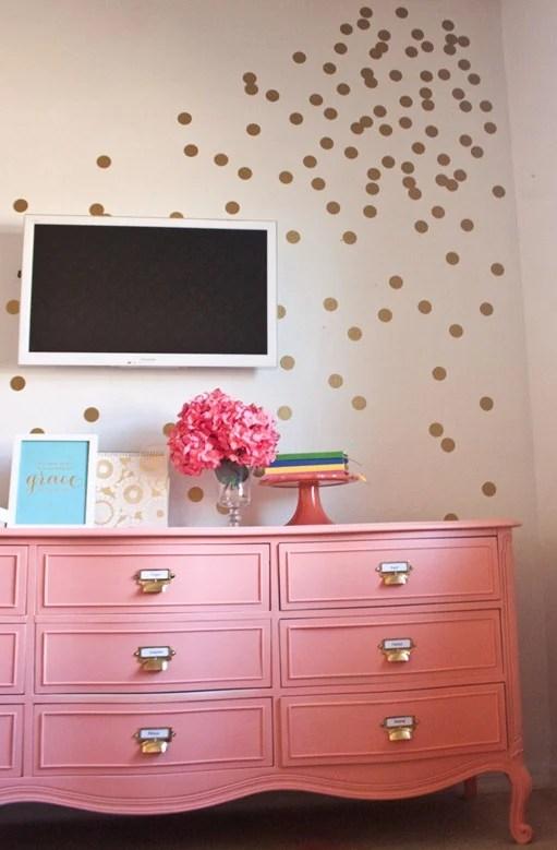 Coral paint colors Popular Infarrantly Creative Coral Dresser Remodelaholic Best Coral Paint Colors
