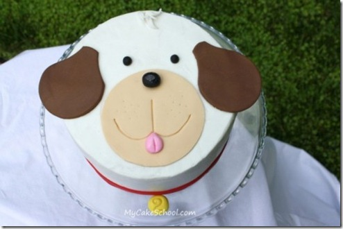 My Cake School Puppy Cake