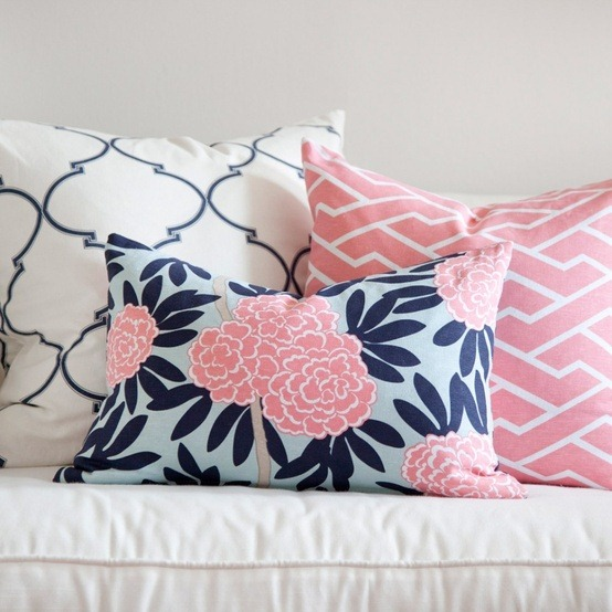 Remodelaholic   Pink and Navy Girl\'s Room Idea