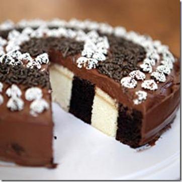 Semisweetie vertical layer birthday cake