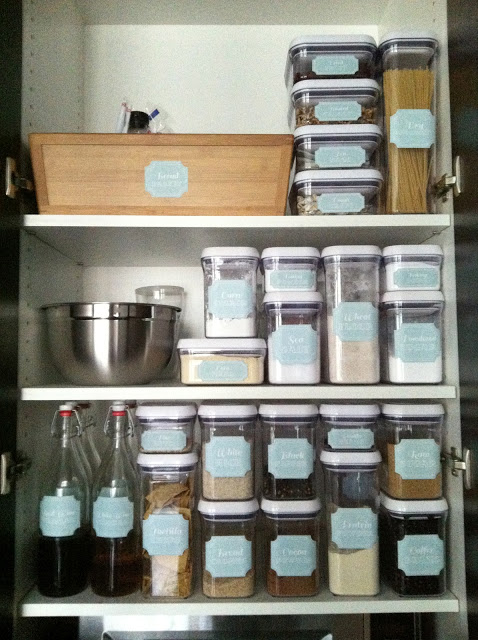 Social Home labeled pantry