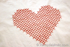 Valentine Pillow cover heart embroidery large scale pink red pillow heart (6)