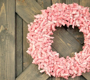 Valentine Paper Curl Wreath Tutorial