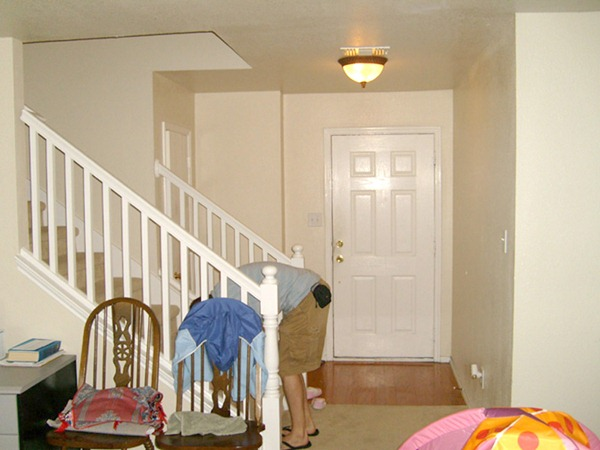 Stair Makeover removing carpet from stairs