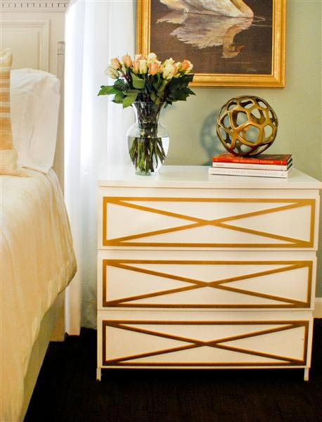 Apartment Therapy ikea overlays gold