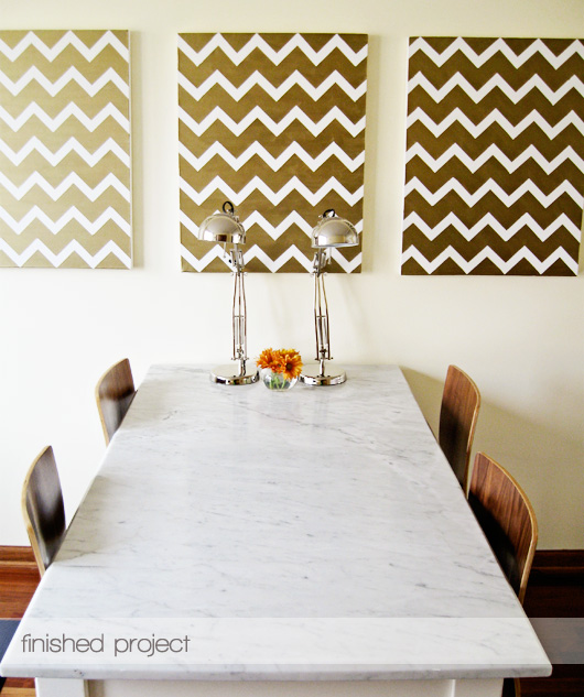 Bronze Chevron canvases