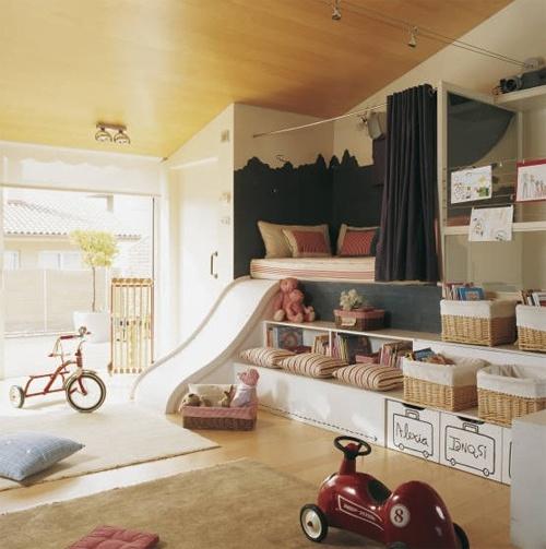 Build in slide and bed nook