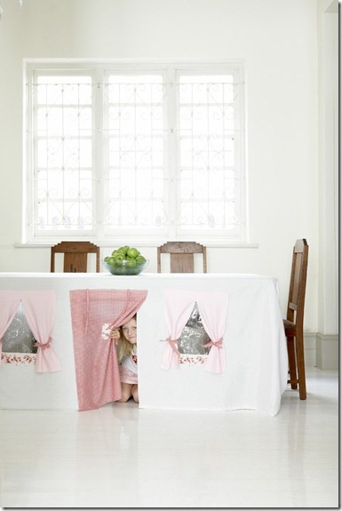 Etsy Tablecloth playhouse