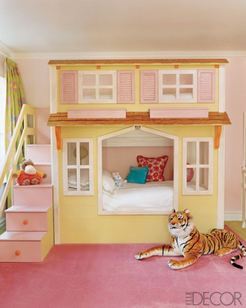 Girls House bunk bed