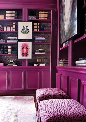 LCH Interiors aubergine cabinetry
