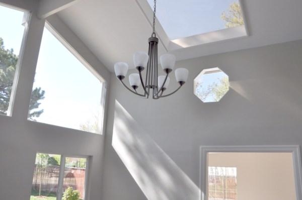 LIndsay & Drew chandelier after