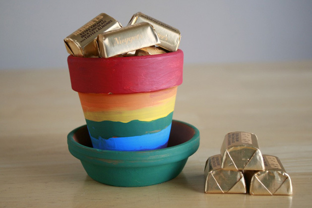Rainbow Pots for St. Patrick's Day by Makezine