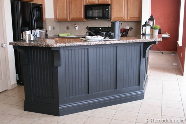 black board and batten kitchen island makeover-1