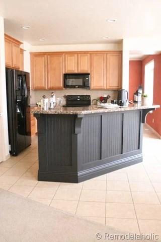 black board and batten kitchen island makeover-25