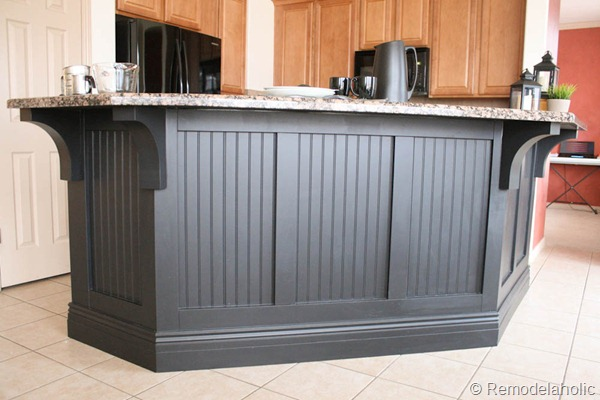 black board and batten kitchen island makeover-34