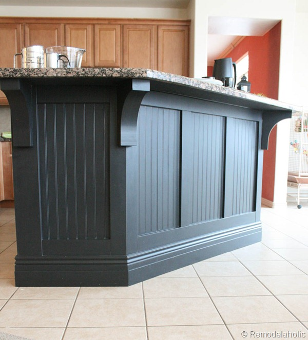 black board and batten kitchen island makeover-40