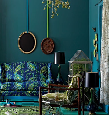 Anthropologie peacock couch