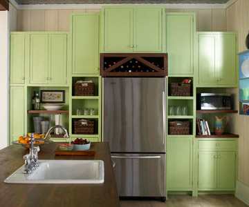 BH&G spring green cabinets