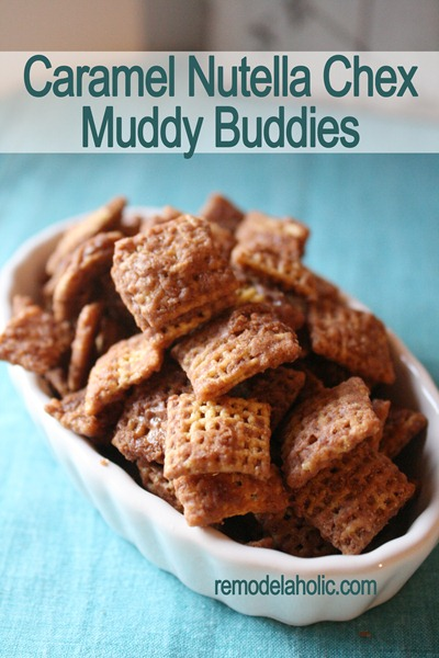 Caramel Nutella Muddy Buddies Recipe