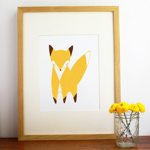 Etsy little fox print