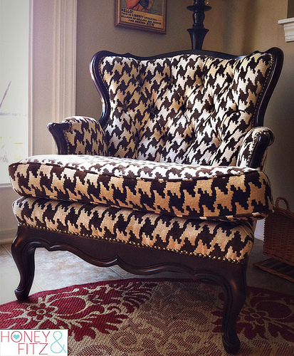 Honey & Fitz houndstooth chair