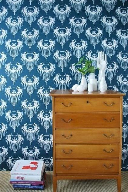 Houzz peacock wallpaper