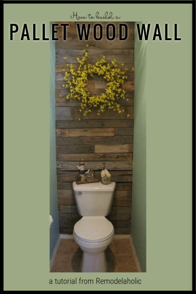 How To Build A Pallet Wood Wall, A Tutorial From Remodelaholic