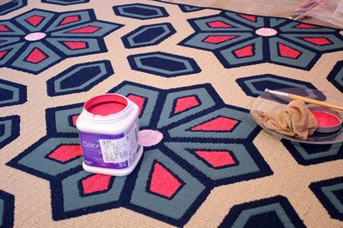 Living Room Flooring & Painting etta's Rug 023