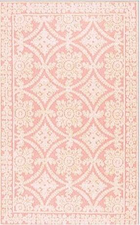 Romantic Chic Romantic Lace Rosa Contemporary Rug