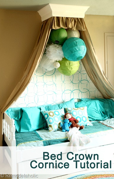Remodelaholic Simple Bed Crown Cornice Tutorial