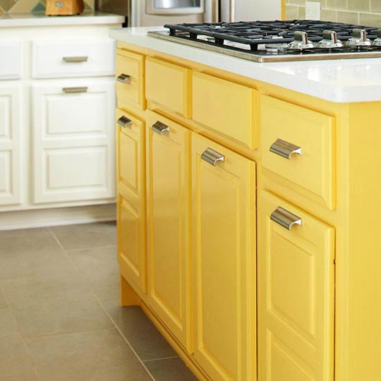 Coloured Kitchen Cabinets: Beautifully Colorful Painted Kitchen Cabinets