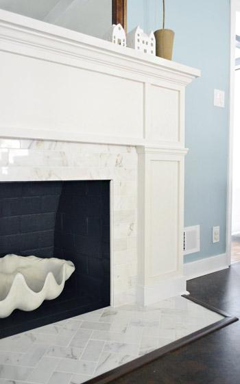 Young House Love herringbone tile