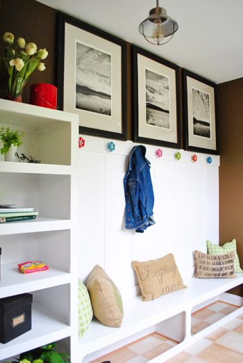 Young House Love mudroom entry