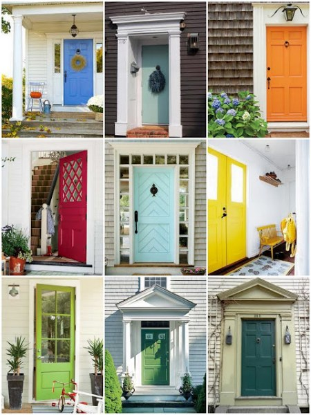 rainbow color front doors