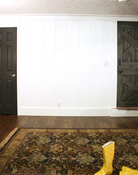 White Board and Batten Interior wall treatment
