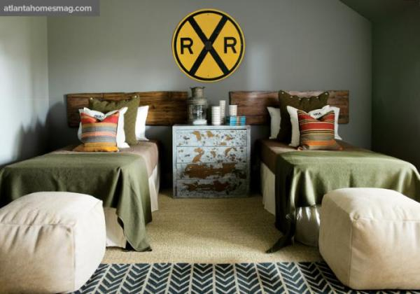 Atlanta Homes Magazine vintage boy room