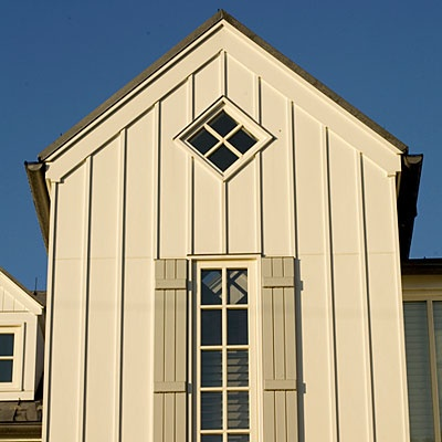 Board and batten exterior wall