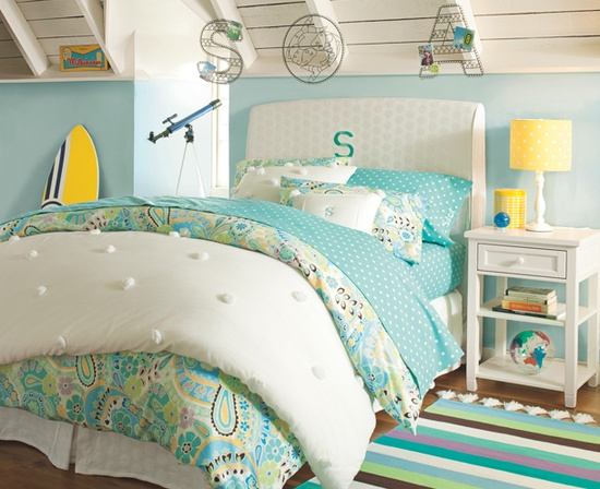 excellent girls beach bedroom decorating ideas | Remodelaholic | 30+ Bedrooms for Teen Girls