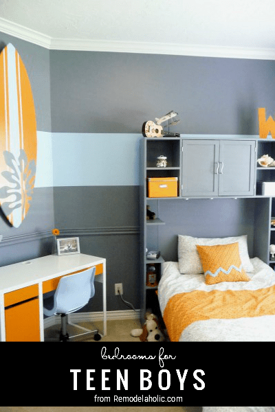 Ideas For Teen Boy Bedrooms, From Remodelaholic