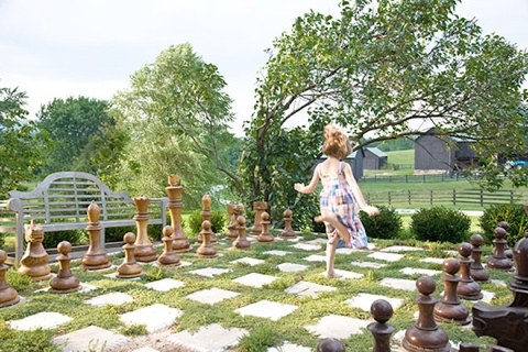 Traditional Home giant chess set