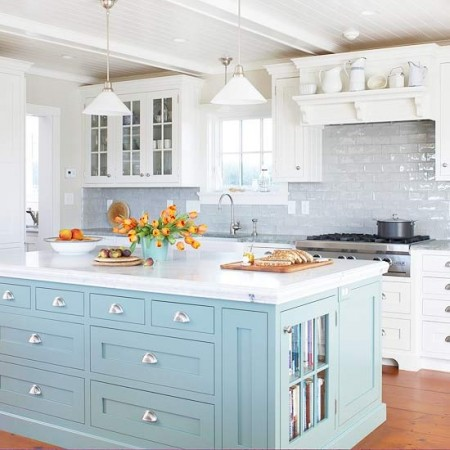 Light Blue Kitchen Cabinets Baby Painted