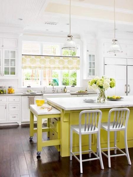 citron painted kitchen island
